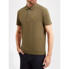Lyle & Scott Woven Collar Polo Shirt Olive