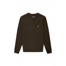 Lyle & Scott Crew Neck Lambswool Jumper Olive Marl