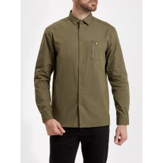 Lyle & Scott Zip Pocket Overshirt Olive