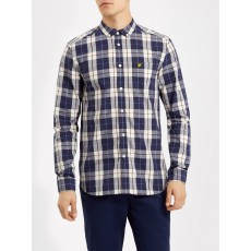 Lyle & Scott Poplin Check Shirt Off White
