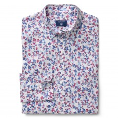 Gant Stretch Broadcloth Mini Floral Shirt White