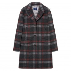 Gant O2. Checked Mohair Coat Anthracit