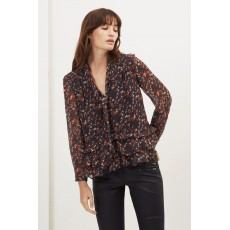 Great Plains Highland Floral Tassle Blouse Paprika Red Multi