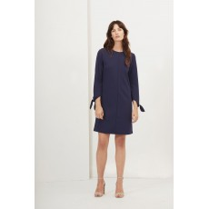 Great Plains Tania Tie Jersey Shift Dress Navy