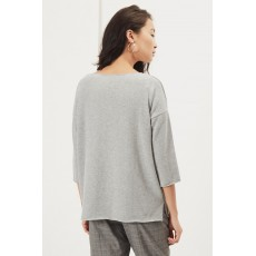 Great Plains  Kitten Soft V Neck Top Granite Grey Melange