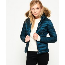 Superdry Luxe Fuji Double Zip Hood