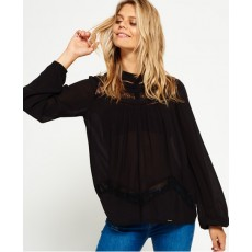 Superdry Daisy Floaty Blouse Juno Black