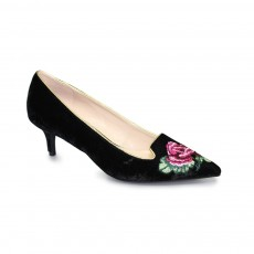 Lunar Trudy Black Rose Detail Court
