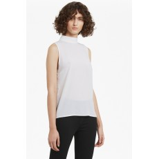 French Connection Classic Crepe Light S/L High Neck Top