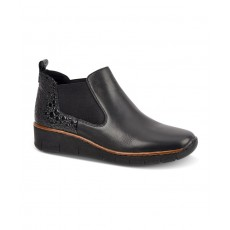 Rieker Pull on Boot Black