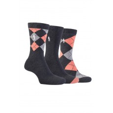 Glenmuir  Argyle Sock Gift Charcoal 4-8