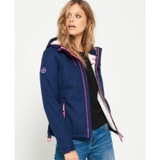 Superdry Hooded Sherpa Windtrekker Nb Eclipse Navy Marl/Ecru