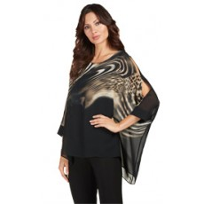 Frank Lyman Top Black/Taupe