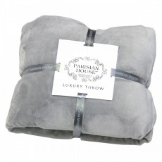 Gallery Flannel Fleece Throw Silver Grey