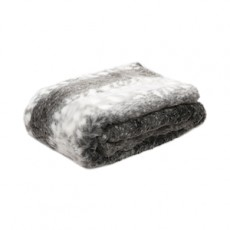 Arctic Striped Faux Fur Throw 150x200cm