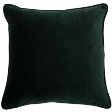 Velvet Piped Cushion Pine Green