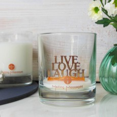 Melting Messages Copper Live Love Laugh Scented Candle