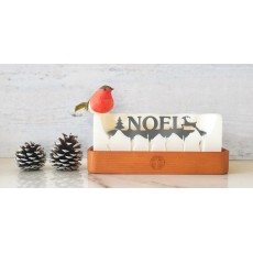 Melting Messages Noel Candle Wood Tray