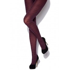 Charnos Tweed Opaque Tights 1 Pair Plum