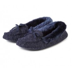 Totes Fine Knit Moccasin Slipper