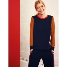 White Stuff Leafy Avenue Knitwear Navy Multi