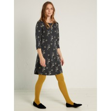 Whitestuff Sprig EMB Dress Forest Green