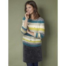 WhiteStuff Eden Stripe Jumper Grn Multi