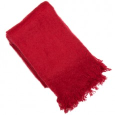 Vogue Scarlet Mohair Throw 150x180cm