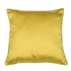 Faux Silk Cushions Acid Green Pair