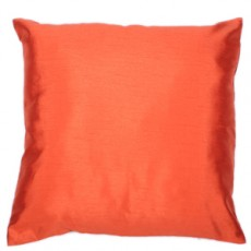 Faux Silk Cushions Rust Pair