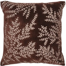 Heather Cushion Metallic Copper Flowers