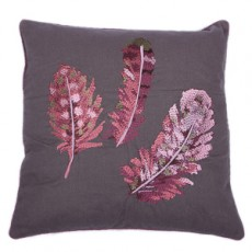 Nishma Embroidered Felt Cushion Pink