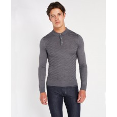 Remus Uomo L/S Polo Shirt Steel