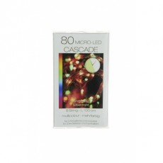 Christmas Lights 80 Micro T-LED Cascade Multi Coloured