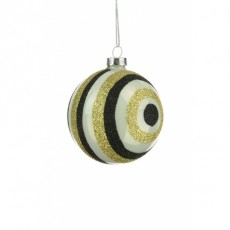 Glass Molly Bauble Multi Coloured 8cm