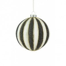 Glass Jessalyn Bauble Multi Coloured 8cm