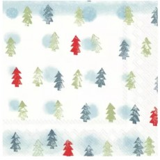 Winter Trees Light Blue Lunch Napkins