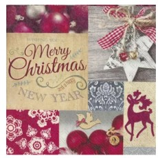 Christmas Collage Lunch Napkins