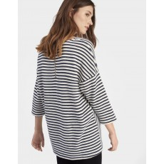 Joules Odessa Sweat Top French Navy Stripe