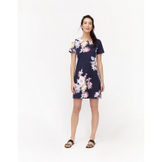 Joules RivieraPrint Short Sleeve Boarder Print Dress Navy/White