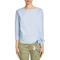 Oui Blouse Light Blue/White