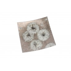Dusky Dandelion Small Square Glass Plate