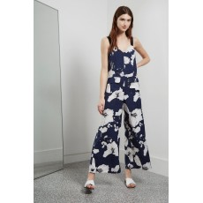 Great Plains Tropical Fauna Jumpsuit Navy
