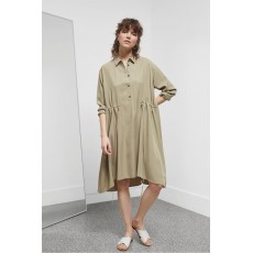 Great Plains Tamar Tencel Drawstring Dress Palm Green