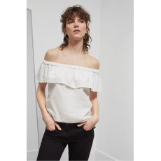 Great Plains Lagos Linen Cold Shoulder Top White