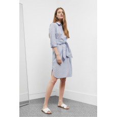 Great Plains Hannah Summer Shirting Dress Blue Pinstripe