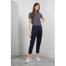 Great Plains Suki Stretch Ruffle Hem Trousers Navy