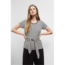 Great Plains Tessa Tie Tee Black Night/Latte