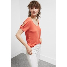 Great Plains Lucy Linen Mix Jersey Tee