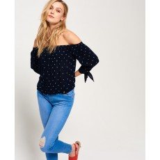 Superdry Brook Off Shoulder L/S Top